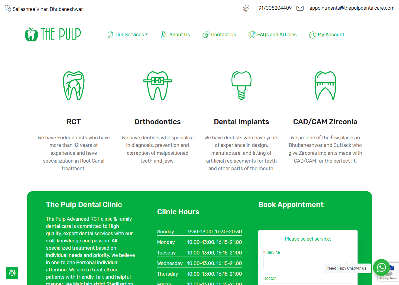 Services with custom icons and appointments plugin